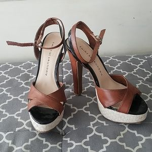 Chinese Laundry Two Tone Heel Sandals